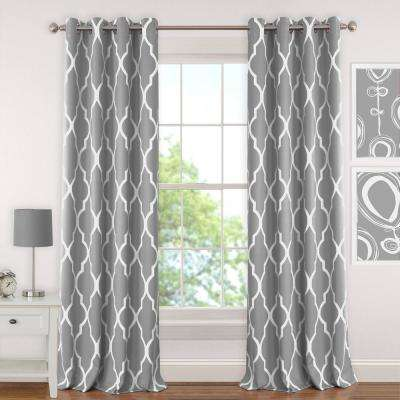 Geometric Curtains Drapes Window Treatments The Home Depot Cool Pattern Curtains