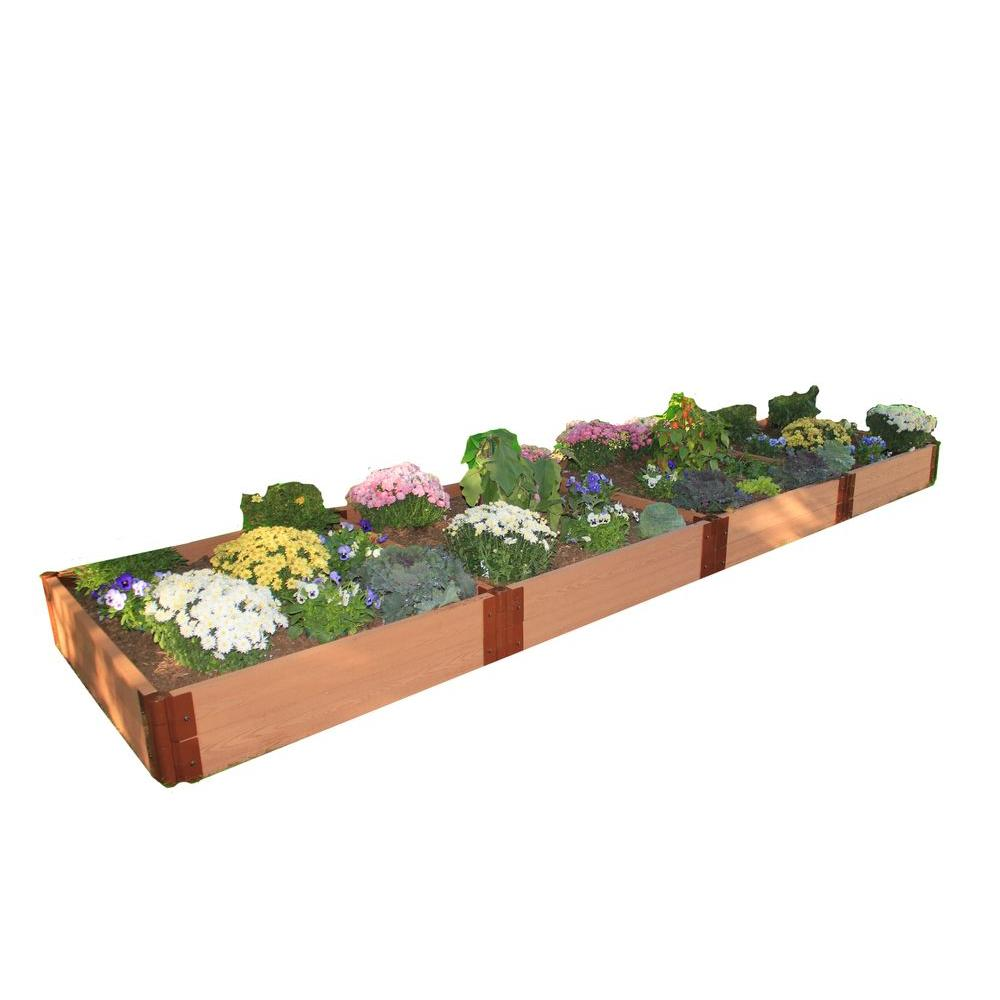 Frame It All Two Inch Series 4 ft. x 16 ft. x 11 in. Composite Raised Garden Bed Kit