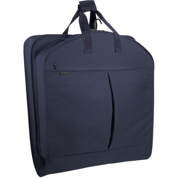 WallyBags 40  Navyin. Suit Length Carry-On Garment Bag with 2-Pockets