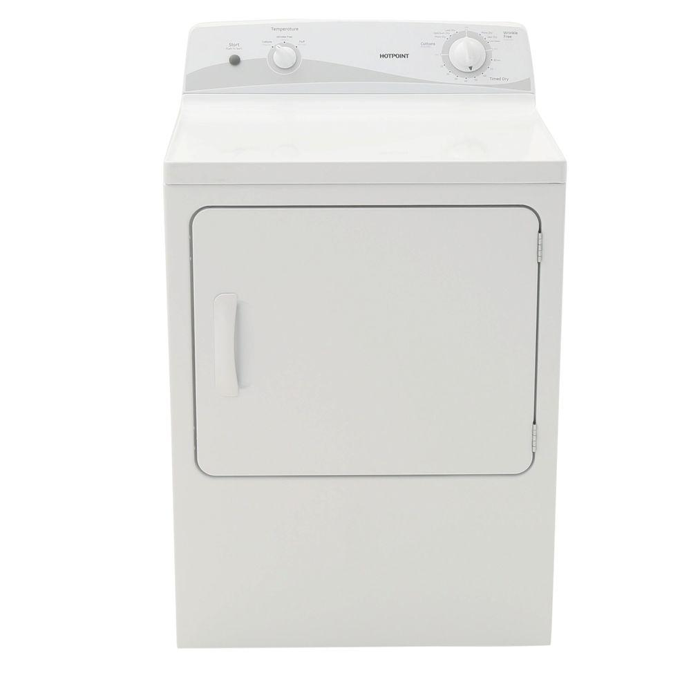 Hotpoint 6.0 cu. ft. Electric Dryer in White