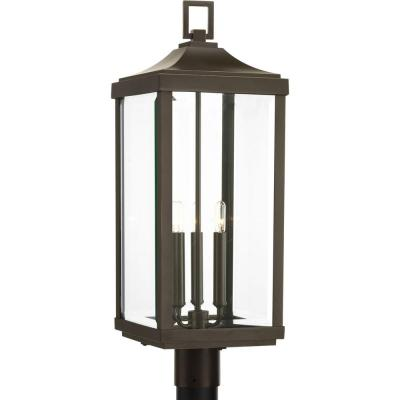 Gibbes Street Collection 3-Light Outdoor Antique Bronze Post Lantern