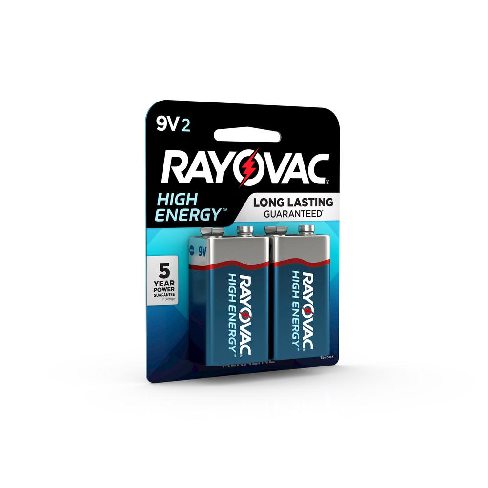 Rayovac High Energy Alkaline 9-Volt Battery (2-Pack)