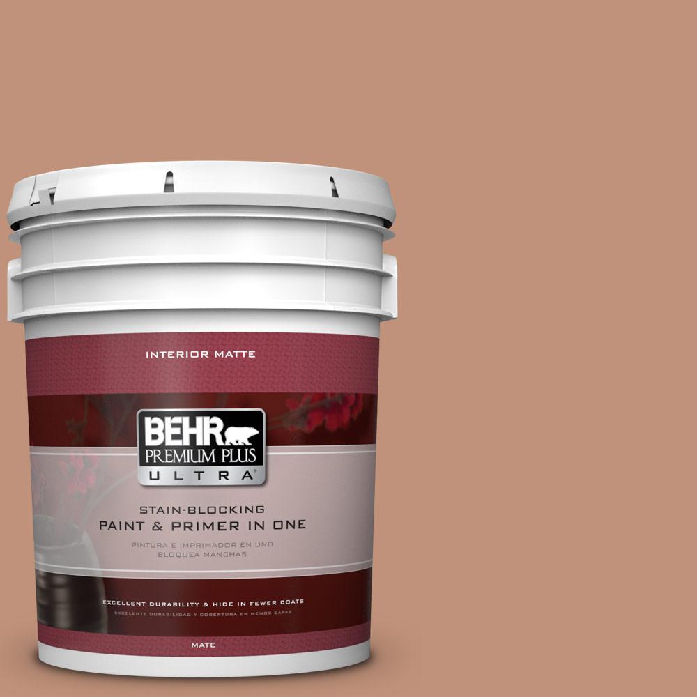 BEHR Premium Plus Ultra 5 gal. #ICC-101 Florentine Clay Flat/Matte Interior Paint