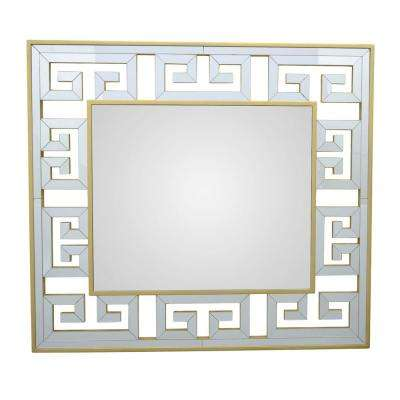 28 in. Mirror with Wood Frame in Gold