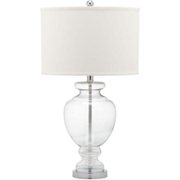 Safavieh - Glass 28 in. Clear Vase Table Lamp with Off-White Shade (Set of 2)