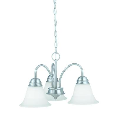 Bella 3-Light Brushed Nickel Chandelier