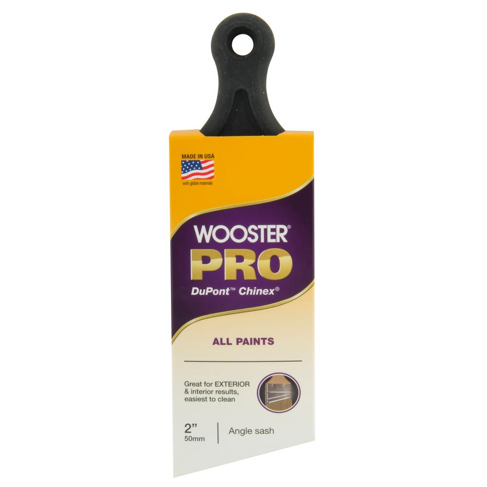 Wooster 2 in. Pro Chinex Short Handle Angle Sash