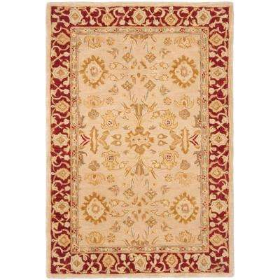 Anatolia Ivory/Red 8 ft. x 10 ft. Area Rug