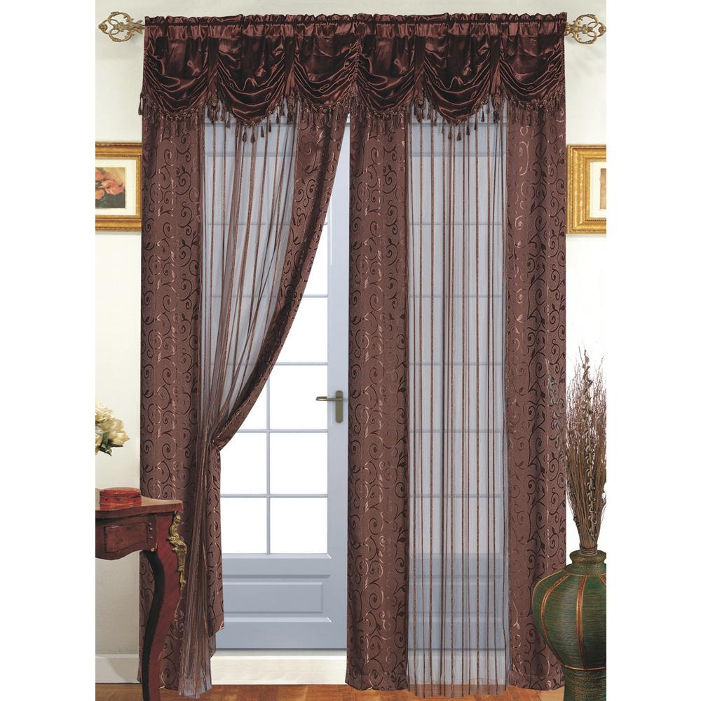 Window Panel With Attached Valance
