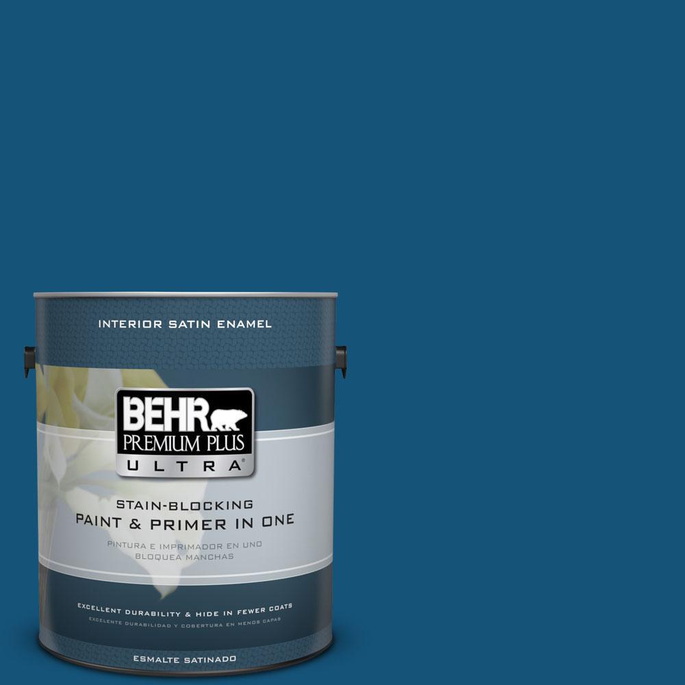 BEHR Premium Plus Ultra 1-gal. #S-H-560 Royal Breeze Satin Enamel Interior Paint