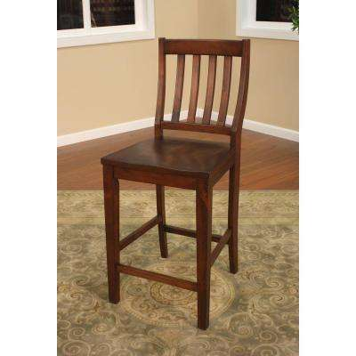 Hyden 25 in. Suede Bar Stool (Set of 2)