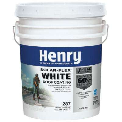 4.75 Gal. 287SF Solar-Flex White Roof Coating (16-Piece)