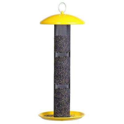 Yellow Straight Sided Finch Tube Bird Feeder