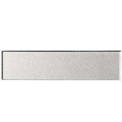 Secret Dimensions Silver 2 in. x 8 in. Glass Wall Tile (1 sq. ft. / pack)