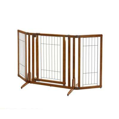 32 in. x 63 in. Wood Premium Plus Pet Gate