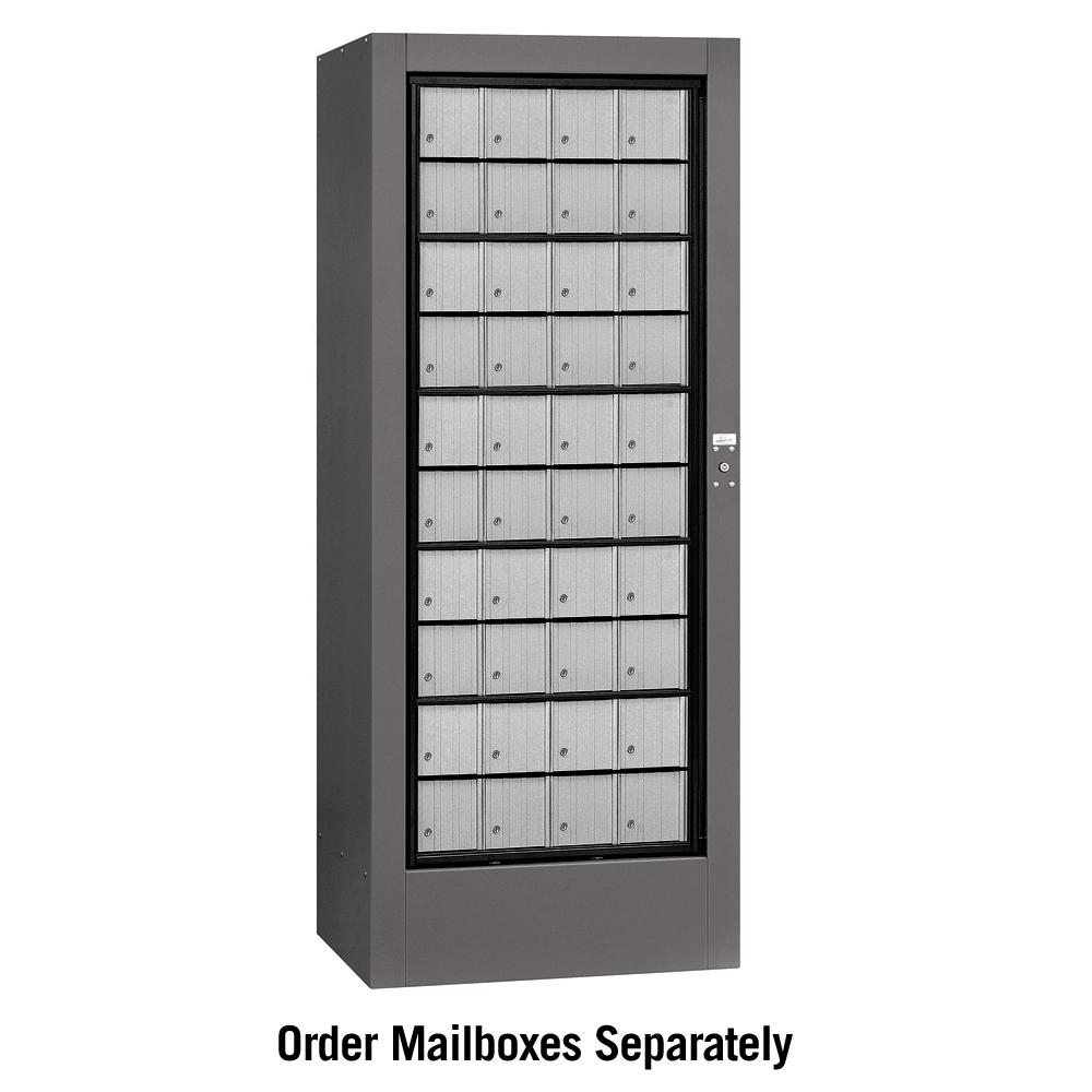 3150 Series USPS Aluminum Style Rotary Mail Center in Slate