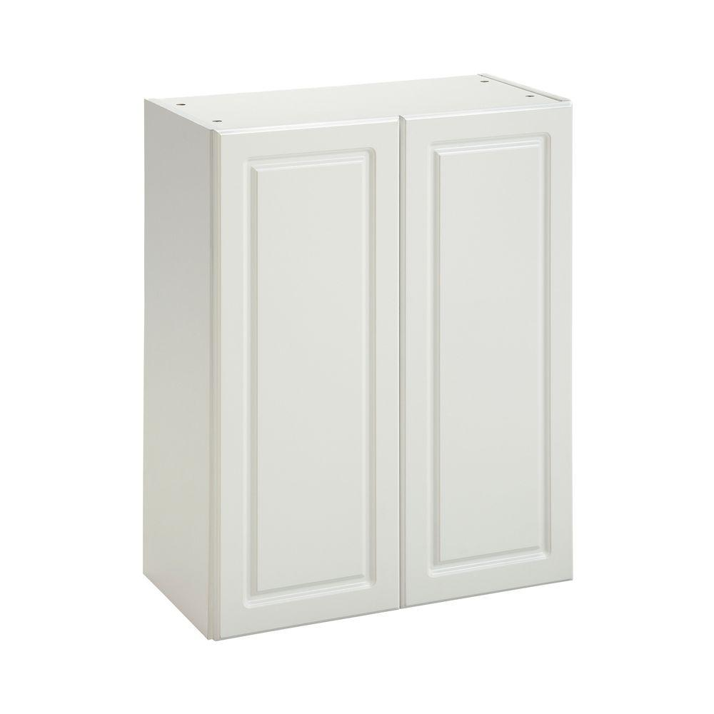 Heartland Cabinetry Heartland Ready to Assemble 24x29.8x12.5 in. Wall Cabinet with Double Doors in White
