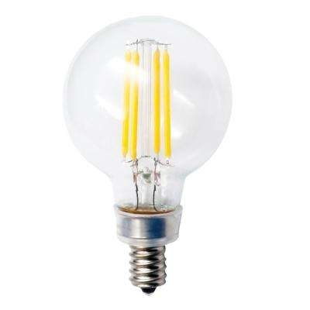 40-Watt Equivalent 4.5-Watt G16.5 Dimmable LED Clear Globe Filament Antique Vintage Light Bulb Warm White