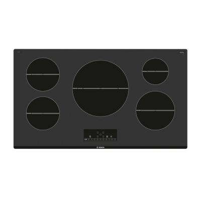500 Series 36 in. Induction Cooktop in Black with 5 SpeedBoost Elements including 12 in. 5,400-Watt Element
