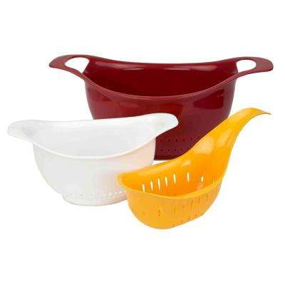 Plastic Colander (Set of 3)
