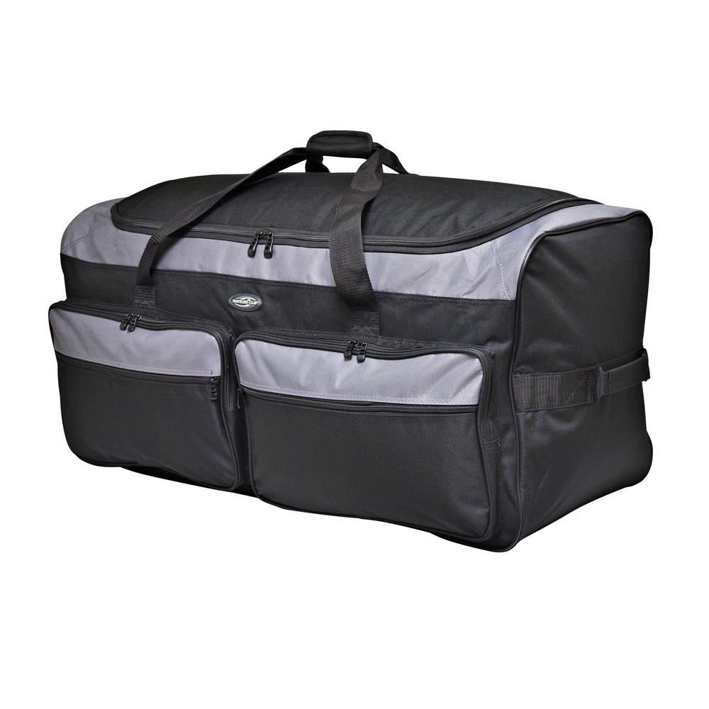 ee625cbb5040 Space Saver 36 in. Collapsible Rolling Duffel Bag with 3 Blade Wheels  (Black