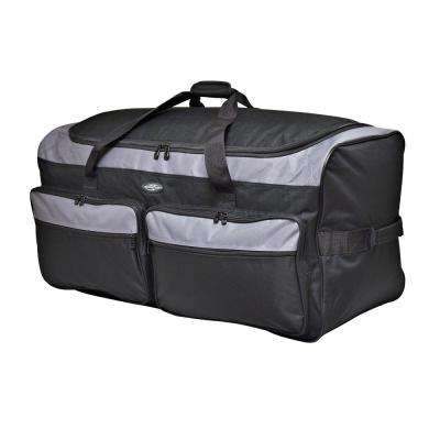 Space Saver 36 in. Collapsible Rolling Duffel Bag with 3 Blade Wheels (Black/Gray)
