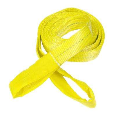 6,600 lb. 12 ft. x 2 in. Yellow Flat Eye to Eye Sling
