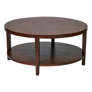 Merge 36 In Mahogany Round Coffee Table