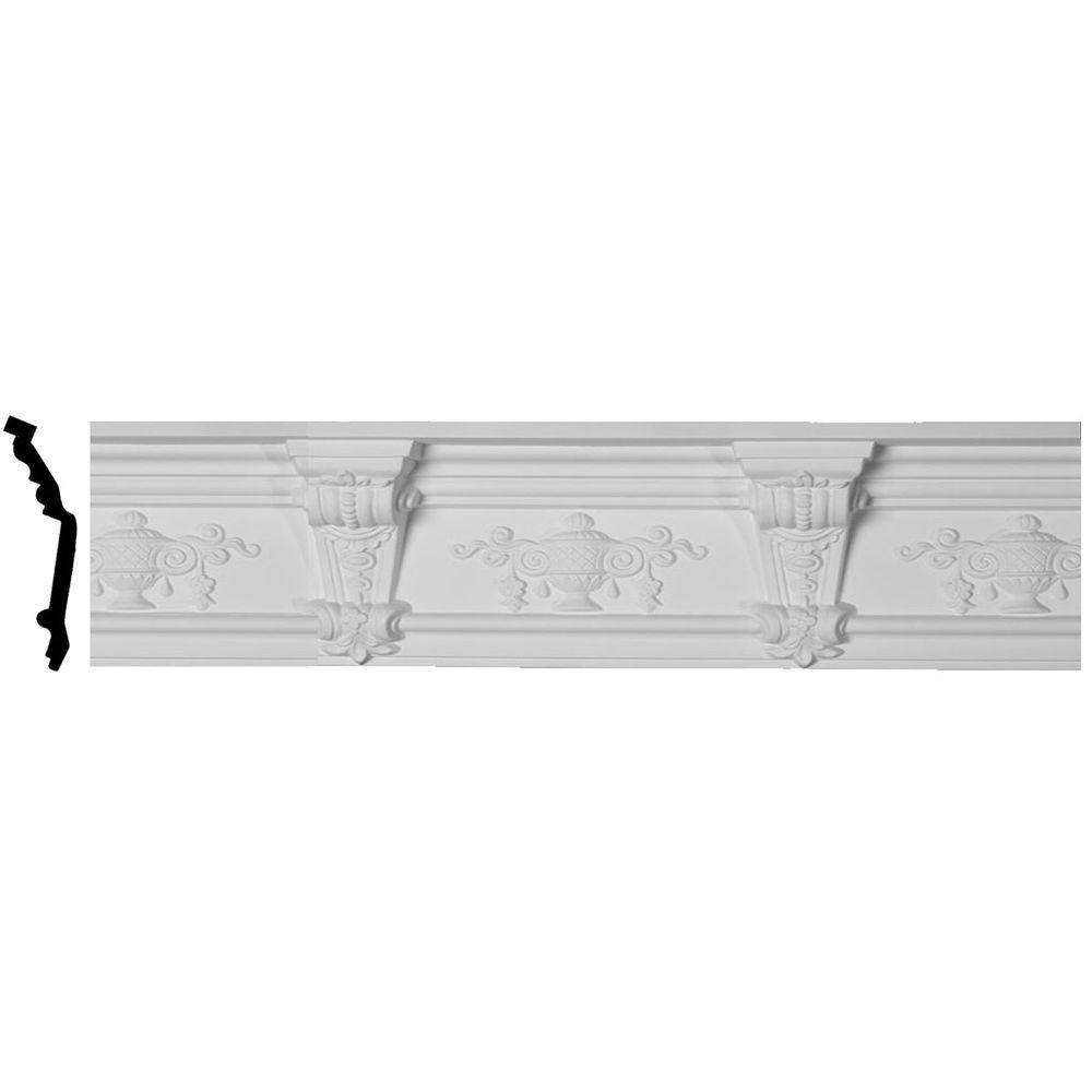 5-1/2 in. x 6-5/8 in. x 94-1/2 in. Polyurethane Jonee Barsom Crown Moulding