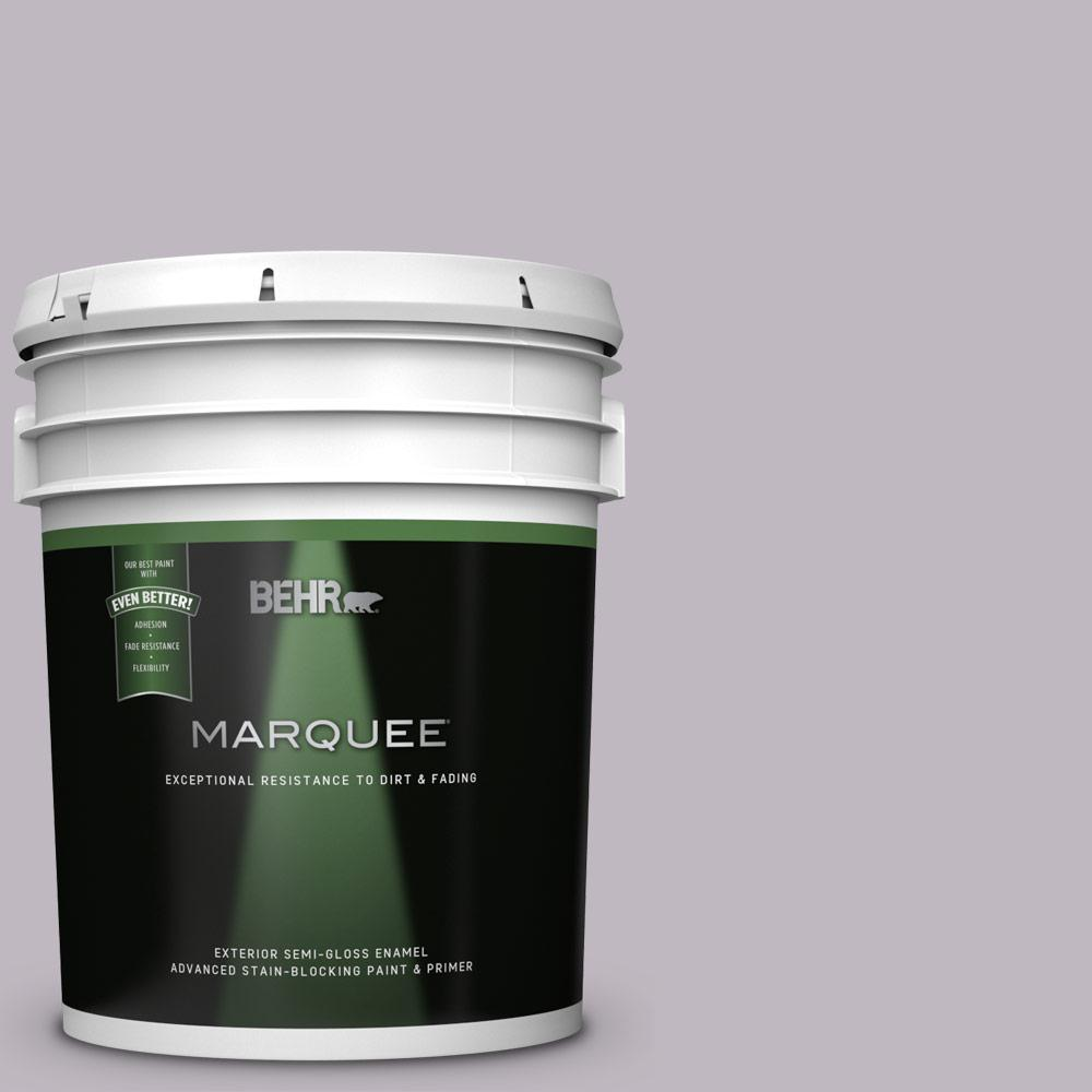 Behr Marquee 5 Gal N570 2 Standing Ovation Semi Gloss Enamel Exterior Paint And Primer In One 545405 The Home Depot