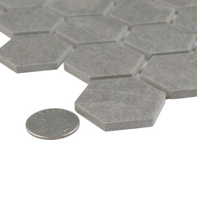 Liverpool Hex 11-3 / 8 in. x 10-3 / 8 in. x 6mm Light Grey Ceramic Mosaic Tile