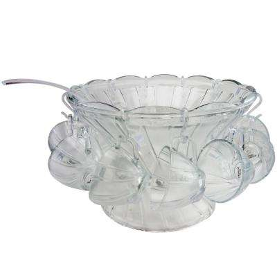 Punchtime 4.6 Qt. Glass Punch Bowl and Cup Set