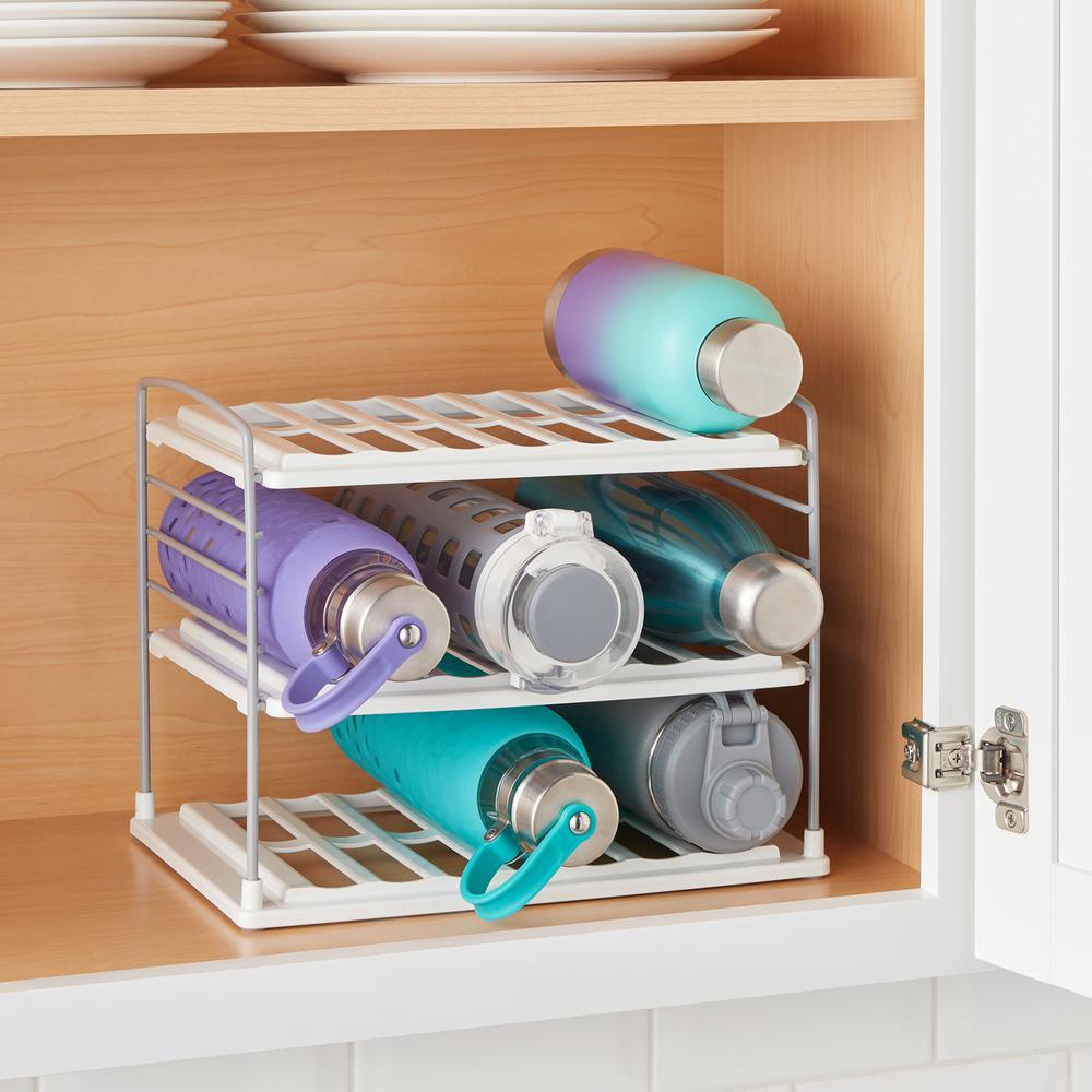 UpSpace Water Bottle and Travel Mug Organizer, 3-Shelf