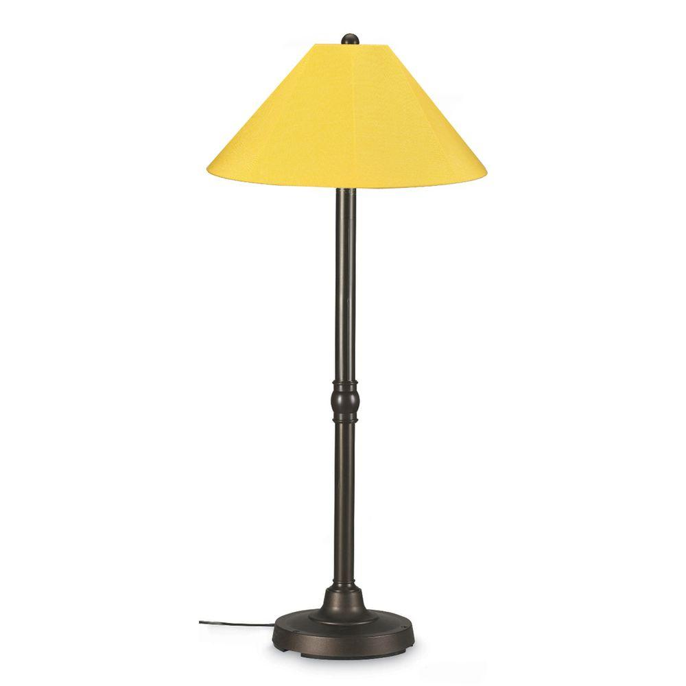 San Juan 60 in. Outdoor Bronze Floor Lamp with Buttercup Shade