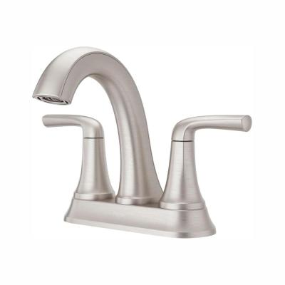 Ladera 4 in. Centerset 2-Handle Bathroom Faucet in Spot Defense Brushed Nickel