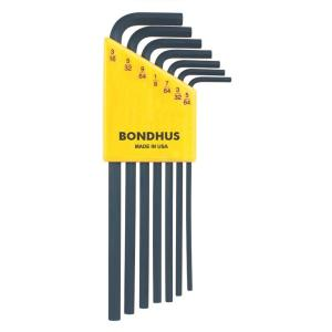 Click here to buy Bondhus Standard Hex End Long Arm L-Wrench Set with ProGuard Finish (7-Piece) by Bondhus.