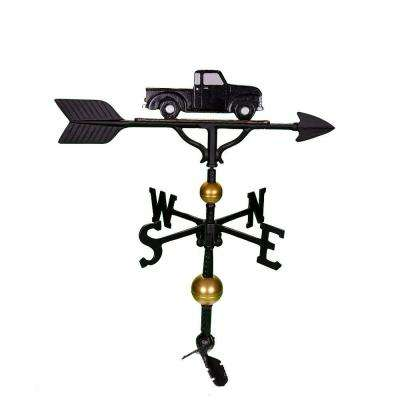 32 in. Deluxe Black/White Classic Truck Weathervane