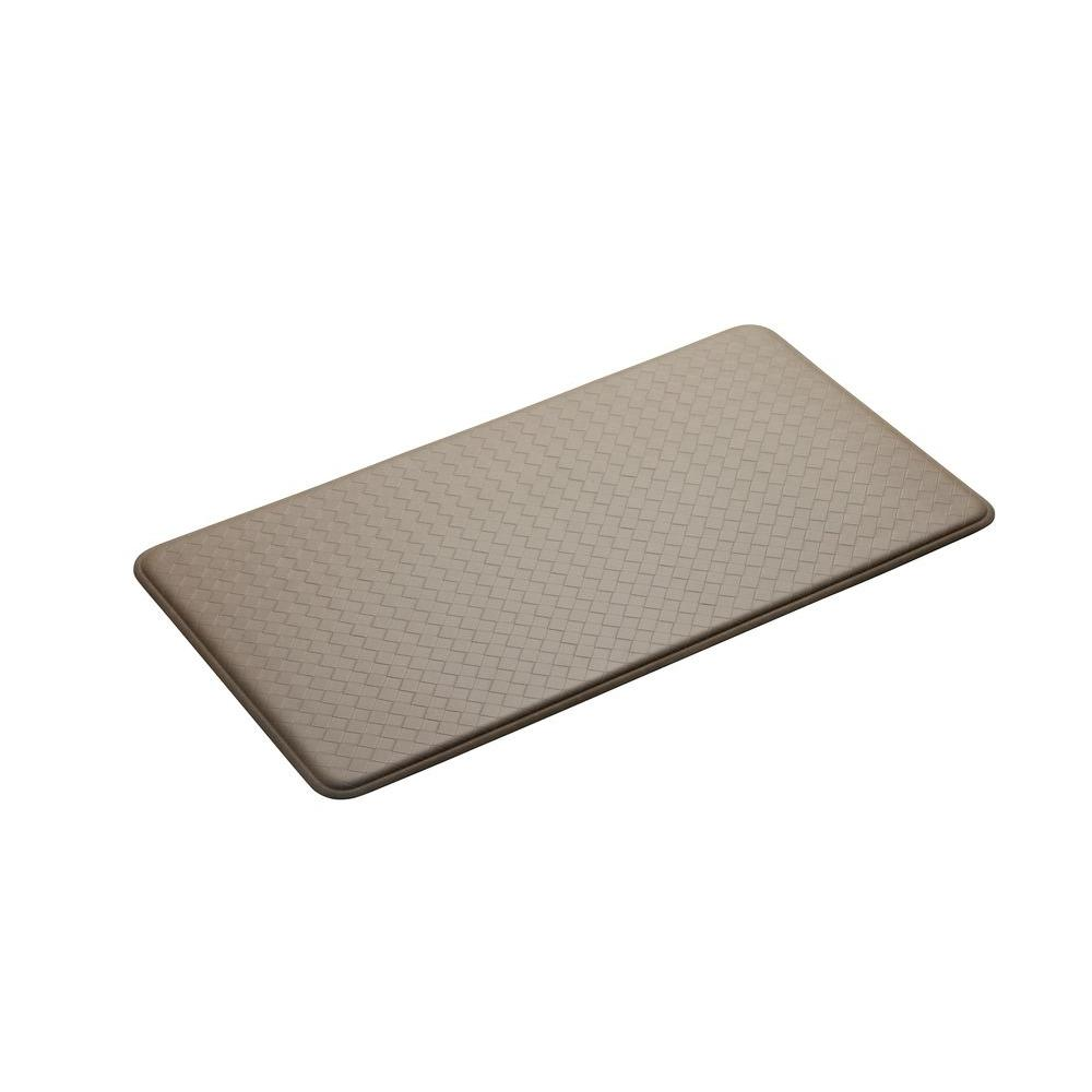 IMPRINT Comfort Mat Nantucket Creme 20 in. x 36 in. Anti Fatigue Comfort Mat