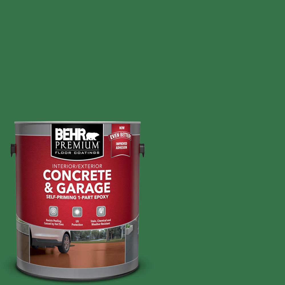 1 gal. #P410-7 Grasslands Self-Priming 1-Part Epoxy Satin Interior/Exterior Concrete and Garage Floor Paint