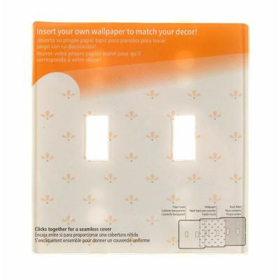 Paper-It 2 Gang Toggle Composite Wall Plate - Uses your Wallpaper