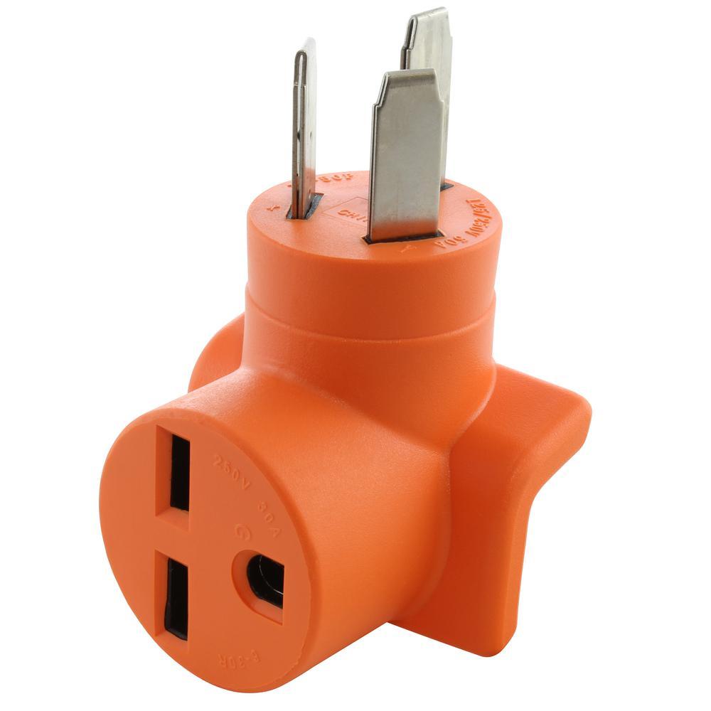 NEMA 10-50P 50 Amp 3-prong Plug to NEMA 6-30R 30 Amp 250-Volt Commercial HVAC