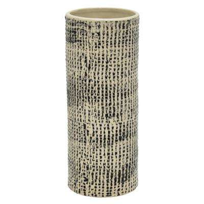 9.75 in. Porcelain-Ceramic Ceramic Vase Finished in Multi-Colored
