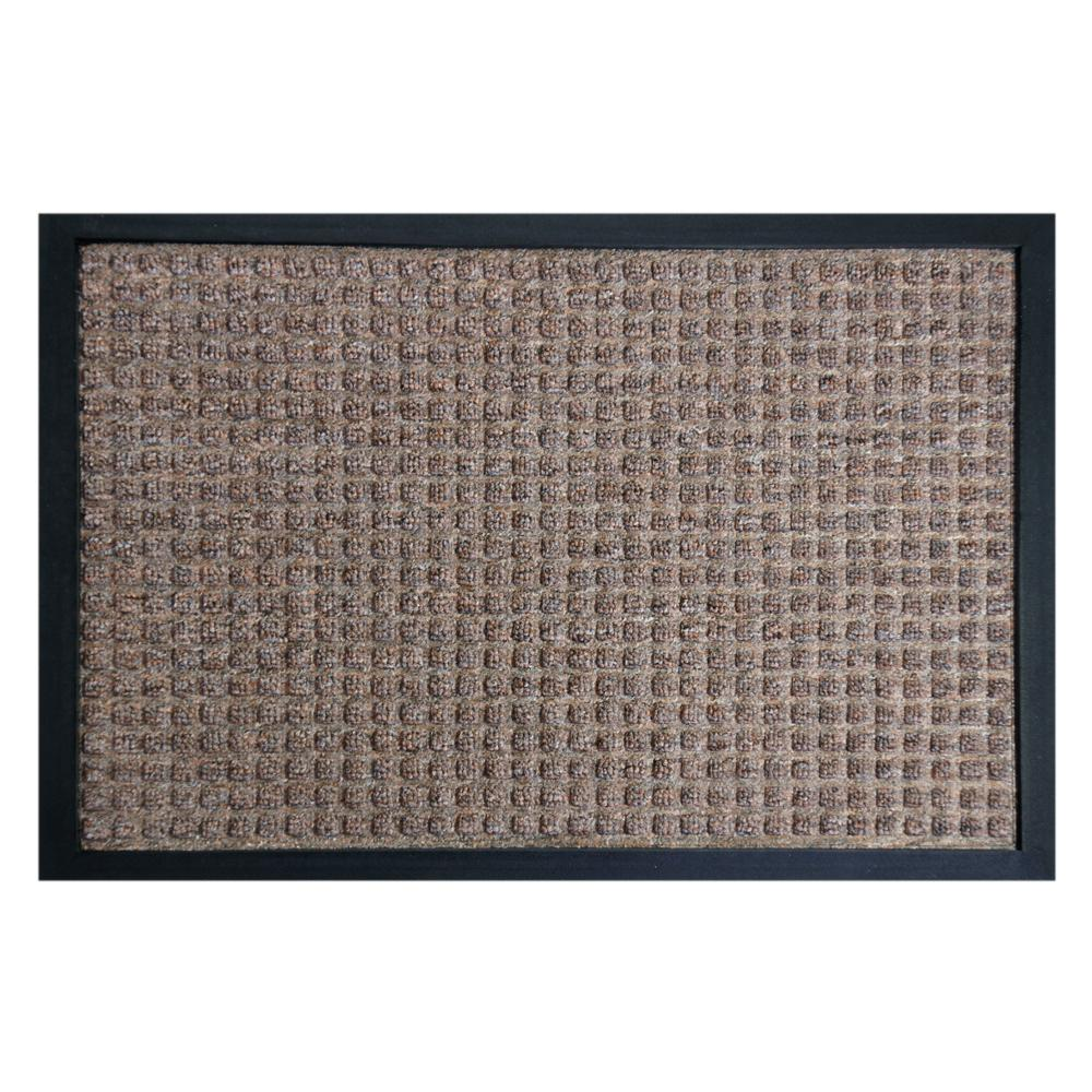 Rubber Cal Nottingham Brown 24 In X 36 Backed Carpet Mat
