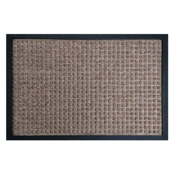 Nottingham Brown 24 in. x 36 in. Rubber Backed Carpet Mat
