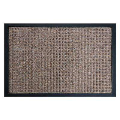 Nottingham Brown 36 in. x 60 in. Rubber Backed Carpet Mat