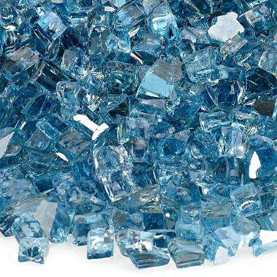 1/4 in. Pacific Blue Reflective Fire Glass 10 lbs. Bag
