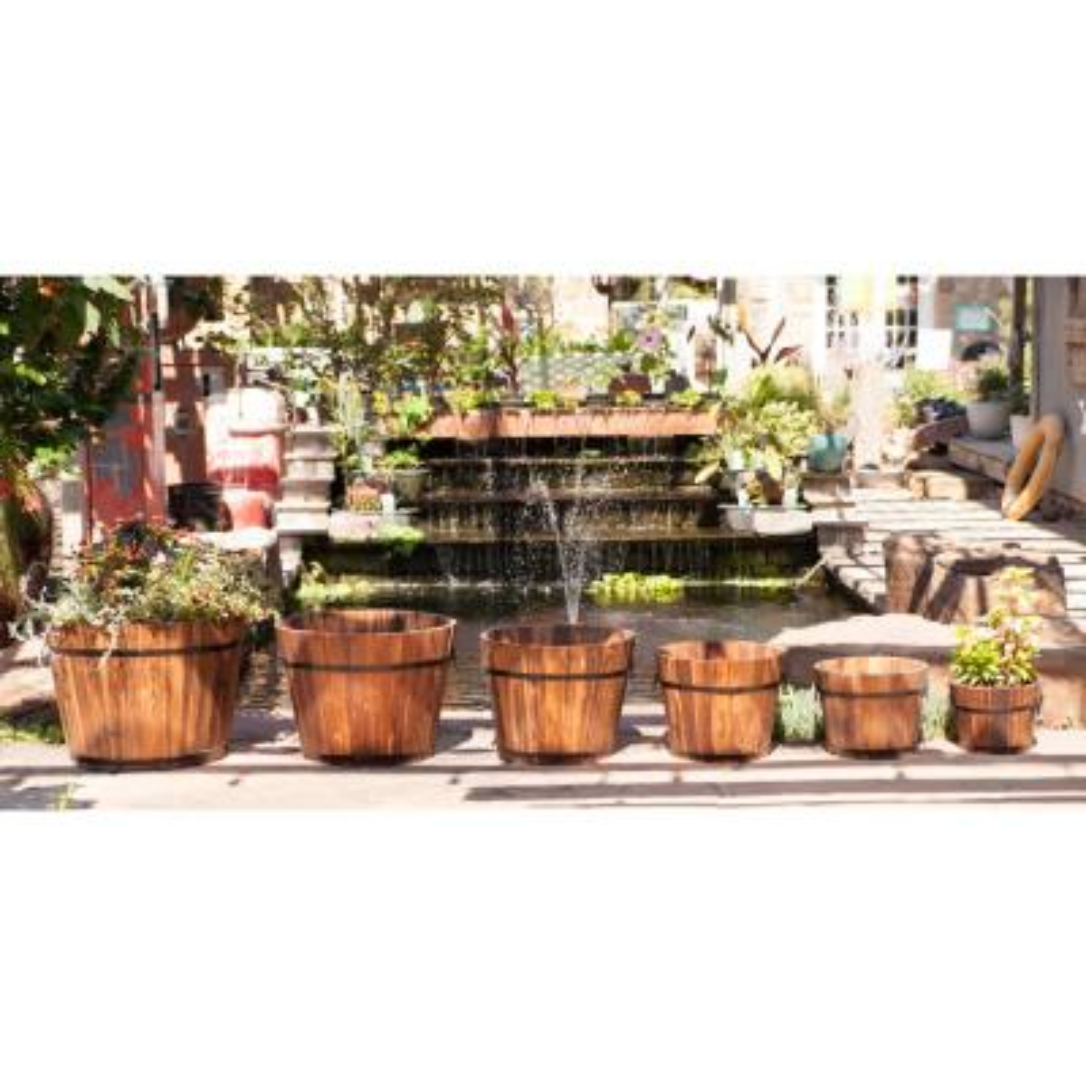 Wooden Whiskey Barrel (Set of 6)