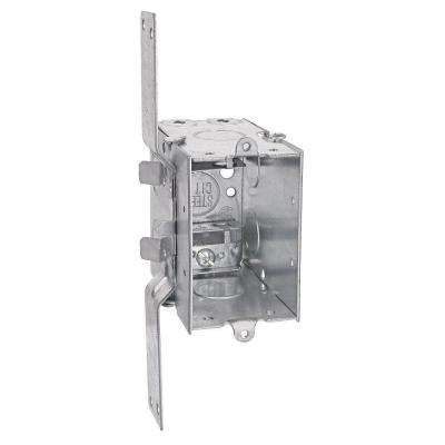 1-Gang 3 in. Metal Electrical Box with C-3 Clamps and CV Bracket (Case of 25)