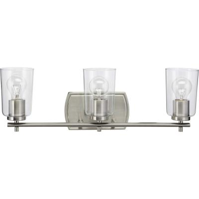 Adley 3-Light Brushed Nickel Bath Light