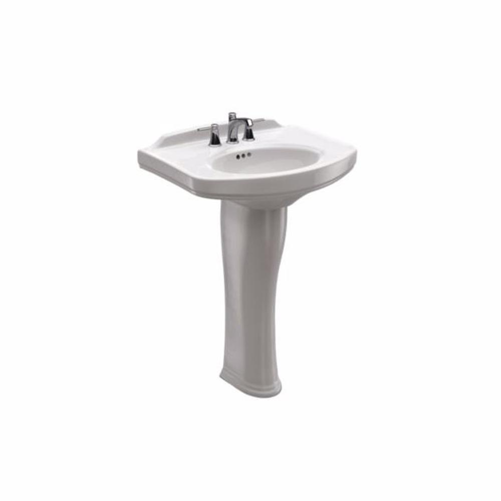 TOTO Dartmouth 24 in. Pedestal Combo Bathroom Sink with 4 in. Faucet ...